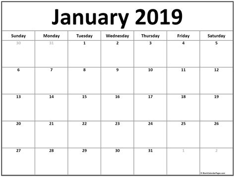 51+ Calendar Templates Of 2019