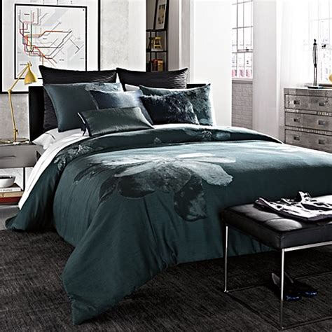 kenneth cole reaction home etched floral comforter bed