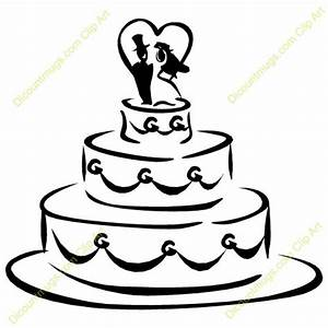 Wedding Shower Clip Art | Clipart 11938 Wedding cake ...