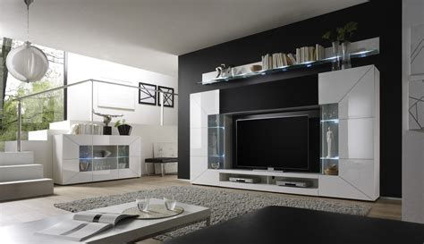 wohnzimmermobel weis landhaus moderne wohnwand mobel design