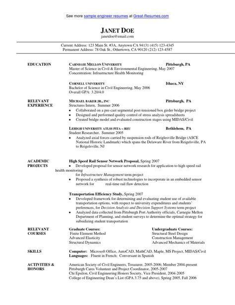 Flagger Duties For Resume by Sle Civil Engineer Resume