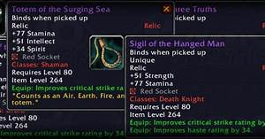 Cataclysm Beta: Relics changed to carry stats and sockets ...