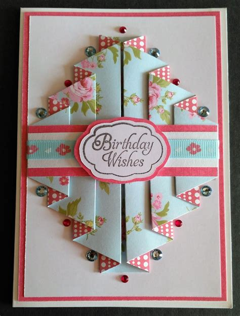 double pleated card cards handmade fancy fold cards