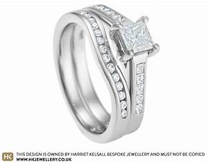 clare39s wave shaped wedding ring with channel set diamonds With wave shaped wedding rings