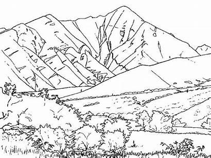 Colorare Disegni Montagne Coloring Montuosa Catena Mountains