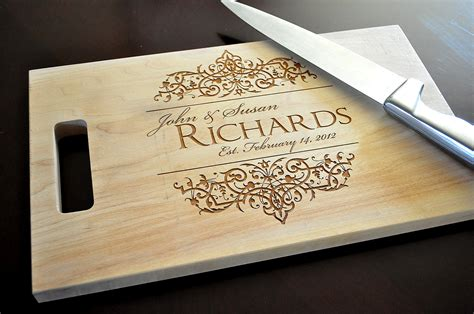 Personalized Cutting Board Laser Engraved 8x14 By