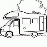 Camper Coloring Colouring Campers Camping Motorhome Rv Truck Drawing Line Colour Trailers Caravan Rocks Printable Van Campervan Voor Afbeeldingsresultaat Coulouring sketch template