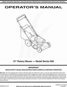 Mtd 12b 569q755 User Manual Lawn Mower Manuals And Guides