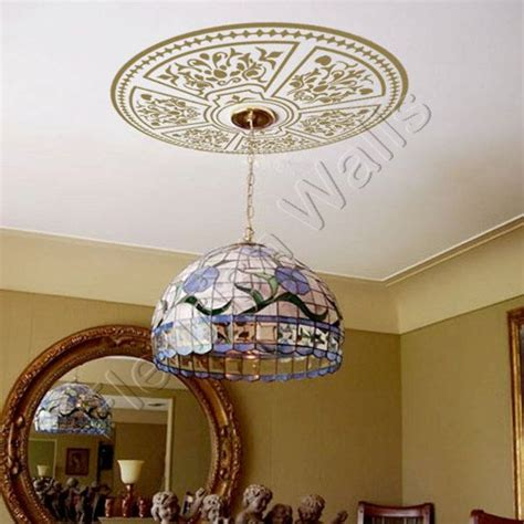 ceiling medallion shabby chic decorative vinyl decal for