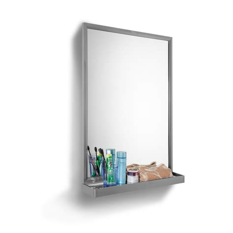 Bathroom Mirrors With Lights And Shelf by Stainless Bathroom Mirror With Shelf And Lights