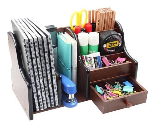 Wooden Desk Organizer Storage Drawer Tray Office Home