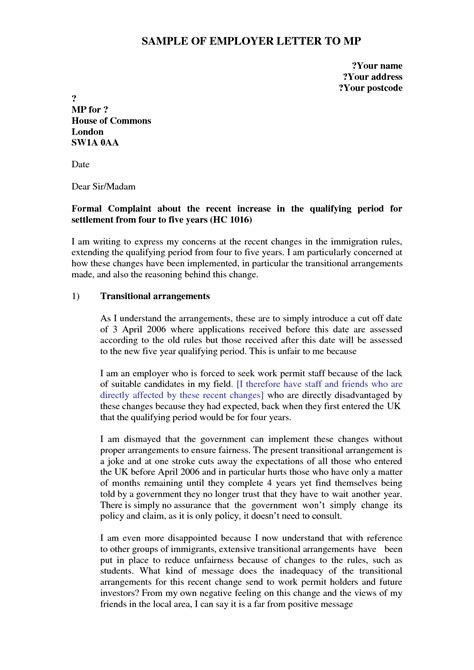 Complaint Against Supervisor Letter Sample