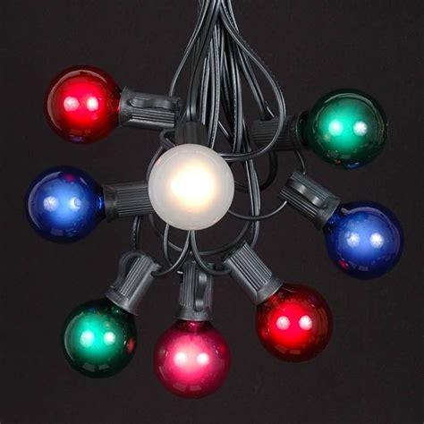 multi colored g40 globe outdoor string light set on