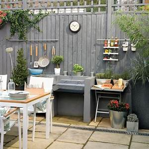 garden fence painted grey with cooking station garden With kitchen colors with white cabinets with outdoor wall and fence art
