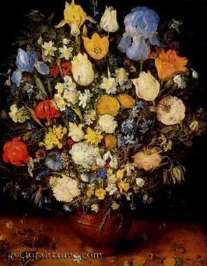 jan Bruegel Bouquet de fleurs Vase en céramique