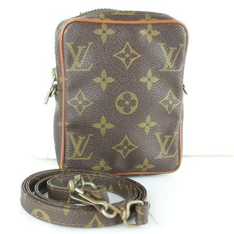 louis vuitton mini danube  model shoulder bag purse monogram brown ebay