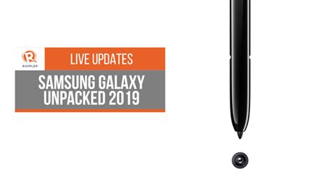 live updates samsung galaxy unpacked 2019
