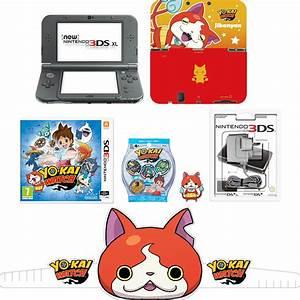 New Nintendo 3DS XL Metallic Black YO KAI WATCH Pack
