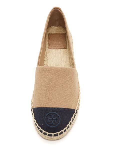 tory burch color block espadrilles  beige khakinavy