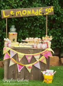 Pink and Yellow Lemonade Stand