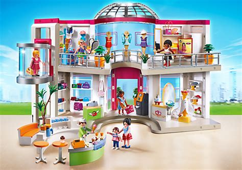 playmobil 5485 furnished shopping mall in harmony