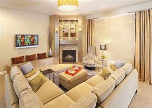 corner fireplace ideas Living Room Contemporary with ...