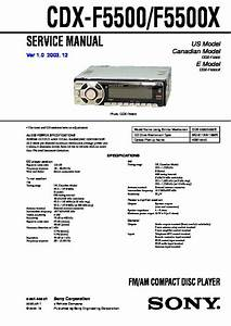 Sony Cdx-f5500  Cdx-f5505x Service Manual