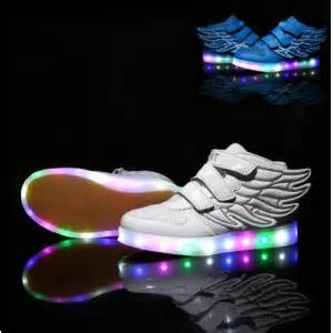 led light up glow neon luminous USB rechargeable shoes