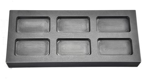 troy ounce multi cavity silver rectangular graphite ingot mold smld  pmc supplies