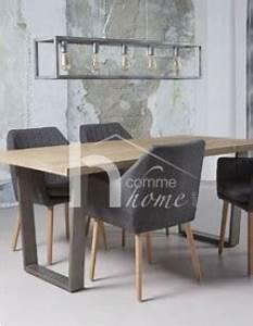 Table à Manger Industrielle Acier Et Bois : table manger industrielle en bois clair et acier aristote ~ Teatrodelosmanantiales.com Idées de Décoration