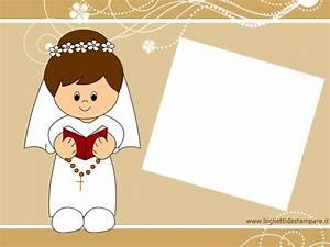 Cartolina Prima Comunione Per Bambina Bigliettidastampareit