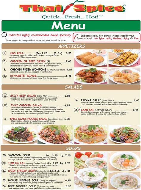 cuisine menu spice oc restaurant guides