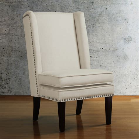 wingback dining chairs wingback chair with nailhead trim home ideas 1117