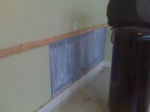 17 best images about diy corrugated steel on pinterest With metal garage interior wall ideas