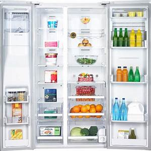 Samsung Rsg307aawp 29 6 Cu  Ft  Side By Side Refrigerator