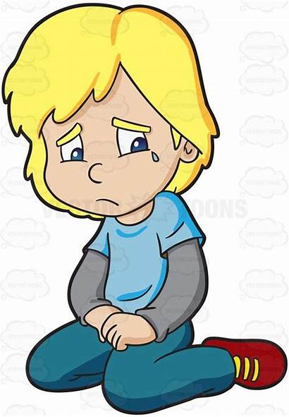 Crying Clipart Sad Boy Lonely Disappointed Kid