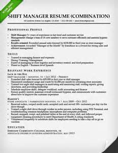 fast food manager resume bullet style resume