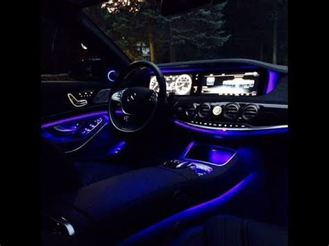 mercedes ed ambient light settings youtube