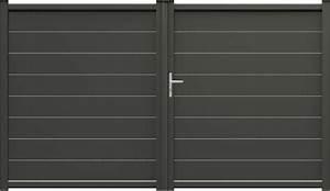 Portail Alu Battant 3m50 : portail alu evans coulissant battant plein remplissage ~ Dailycaller-alerts.com Idées de Décoration