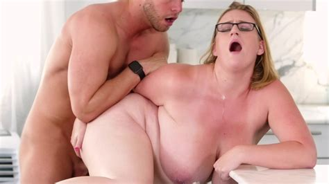 Fat Girl Bent Over The Kitchen Counter And Fucked