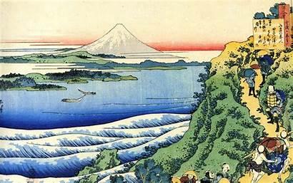 Japanese Wallpapers Hokusai Fuji Mount Artwork Katsushika