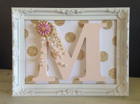 decorated wooden letter  girls bedroom  decoration