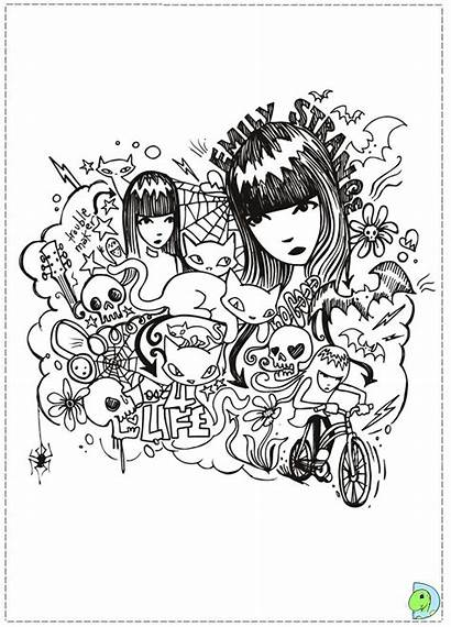 Coloring Pages Weird Strange Emily Dinokids Close