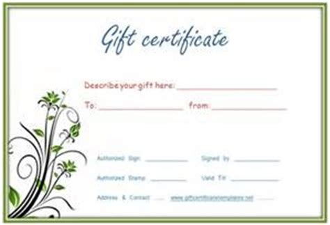 gift certificate template  fill bing images gift