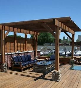 pergola selber bauen eine anleitung und tolle inspirationen With feuerstelle garten mit pergola balkon selber bauen