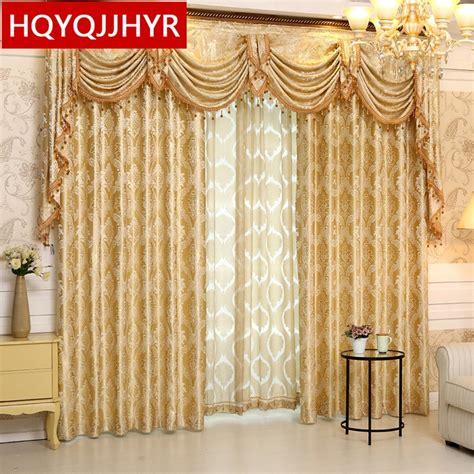 gold curtains living room aliexpress buy 2016 new luxury spun gold jacquard