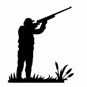 Die Cut Silhouette HUNTER SHOOTING TOPPER x 8 Card making ...