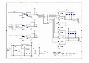6n135 Isolated Unipolar Stepper Motor Driver Circuit