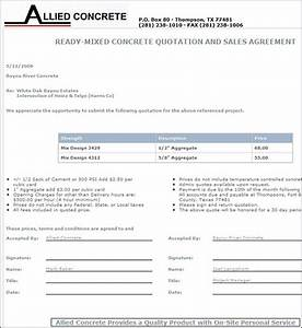 concrete bid sheets pertaminico With concrete proposal template