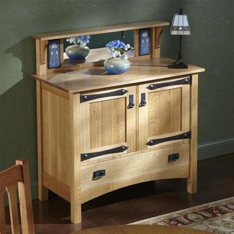 handsome mission hutch woodworking plan  wood magazine